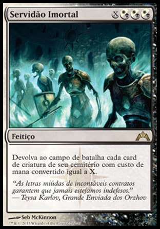 Servidão Imortal / Immortal Servitude-Magic: The Gathering-MoxLand
