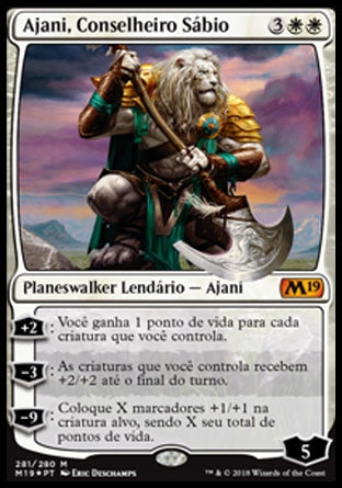 Ajani, Conselheiro Sábio / Ajani, Wise Counselor-Magic: The Gathering-MoxLand