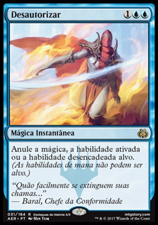 Desautorizar / Disallow-Magic: The Gathering-MoxLand