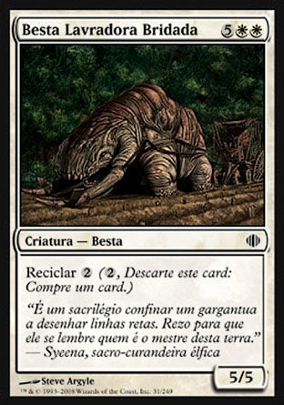 Besta Lavradora Bridada / Yoked Plowbeast-Magic: The Gathering-MoxLand