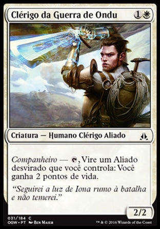 Clérigo da Guerra de Ondu / Ondu War Cleric-Magic: The Gathering-MoxLand