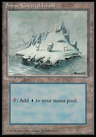 Ilha Nevada / Snow-Covered Island-Magic: The Gathering-MoxLand
