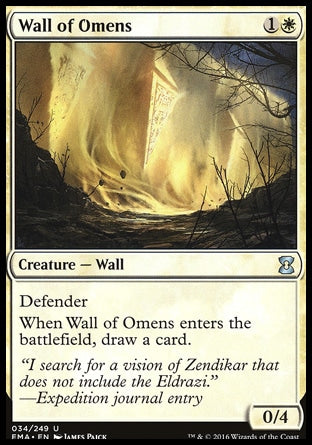 Barreira de Agouros / Wall of Omens-Magic: The Gathering-MoxLand