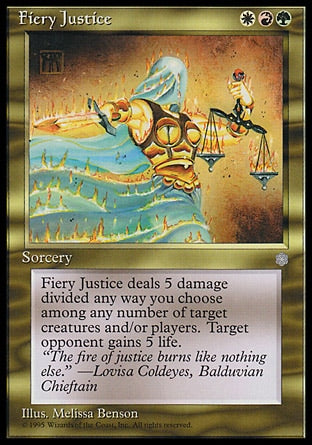Justiça Flamejante / Fiery Justice-Magic: The Gathering-MoxLand