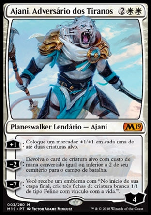 Ajani, Adversário dos Tiranos / Ajani, Adversary of Tyrants-Magic: The Gathering-MoxLand