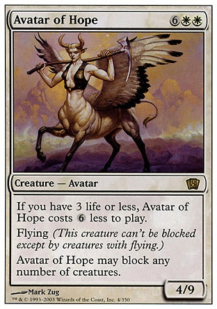Avatar da Esperança / Avatar of Hope-Magic: The Gathering-MoxLand