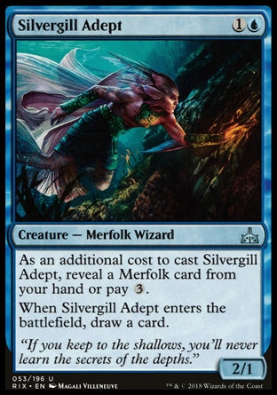 Adepto Prateobrânquio / Silvergill Adept-Magic: The Gathering-MoxLand
