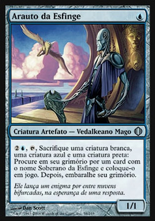 Arauto da Esfinge / Sphinx's Herald-Magic: The Gathering-MoxLand