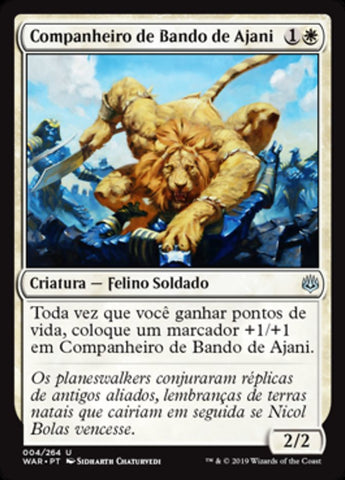 Companheiro de Bando de Ajani / Ajani's Pridemate-Magic: The Gathering-MoxLand