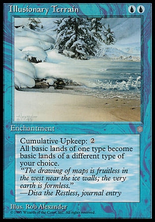 Terreno Ilusório / Illusionary Terrain-Magic: The Gathering-MoxLand