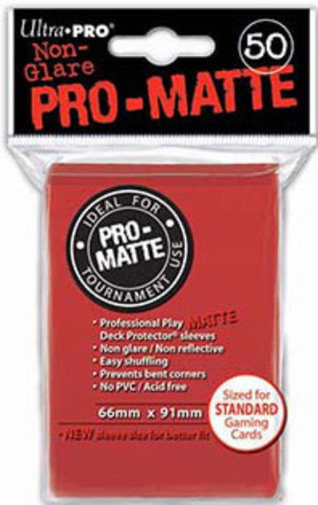 Ultra PRO - 50 unidades Pro-Matte Red Standard Deck Protectors-Ultra PRO-MoxLand