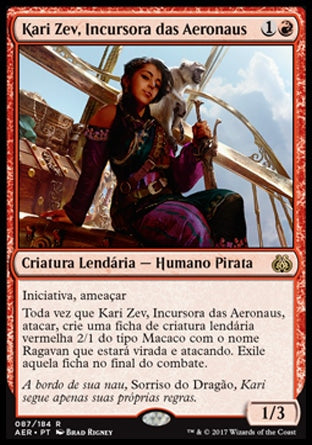 Kari Zev, Incursora das Aeronaus / Kari Zev, Skyship Raider-Magic: The Gathering-MoxLand