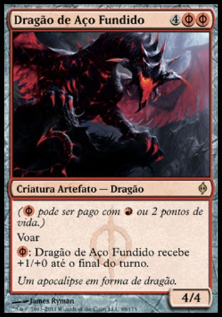 Dragão de Aço Fundido / Moltensteel Dragon-Magic: The Gathering-MoxLand