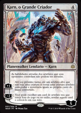 Karn, o Grande Criador / Karn, the Great Creator-Magic: The Gathering-MoxLand