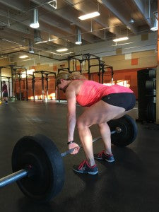 Second view of the starting position of the deadlift.