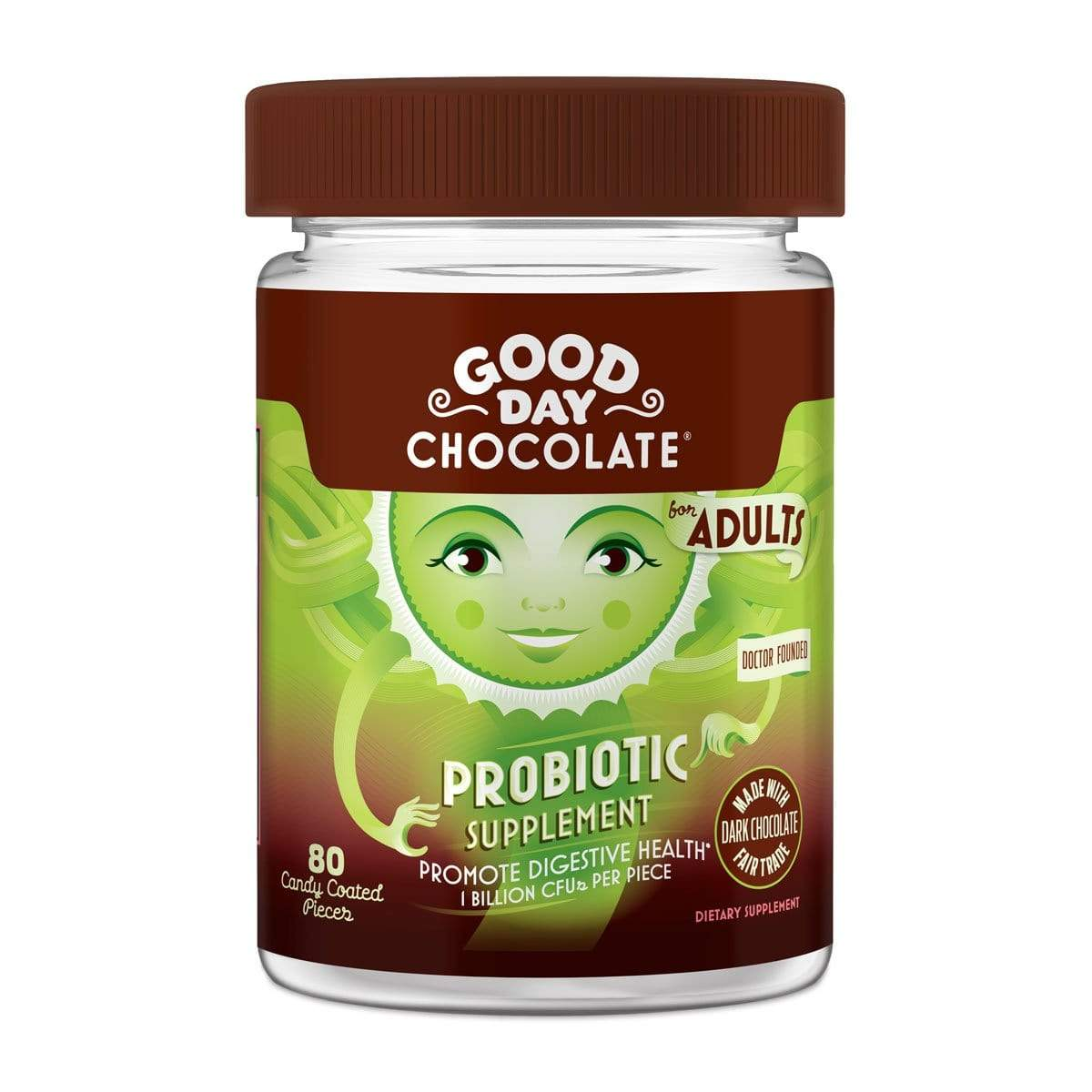 Good Day Chocolate (Sleep, Calm, Energy & More) - Snacks 80 Count Jar