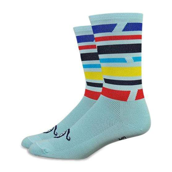 Handlebar Mustache Mind The Gap Blue Socks-Small-The Feed