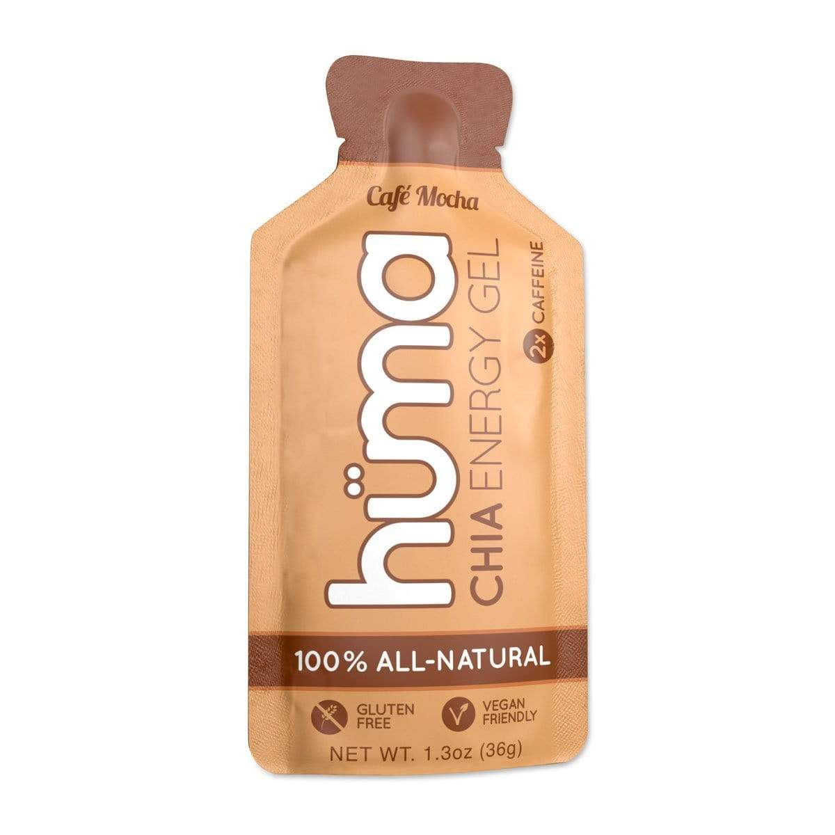 Huma Chia Energy Gel - Cafe Mocha (with Caffeine) Gels