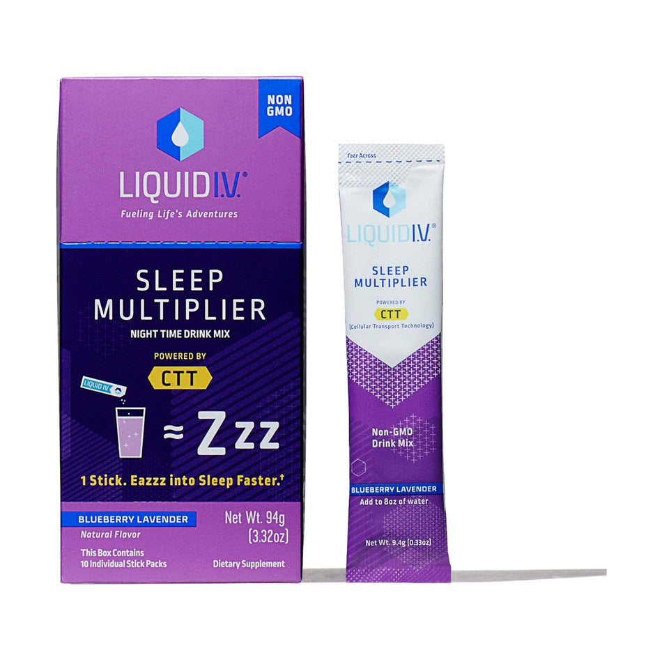Liquid IV Hydration 10 Packets / Blueberry Lavender Liquid IV Sleep Multiplier