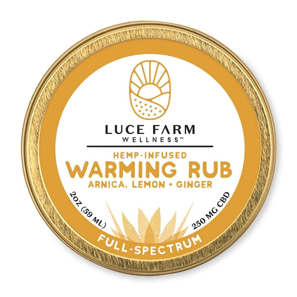 Luce Farm Hemp Infused CBD Warming Rub-2 FL OZ-The Feed
