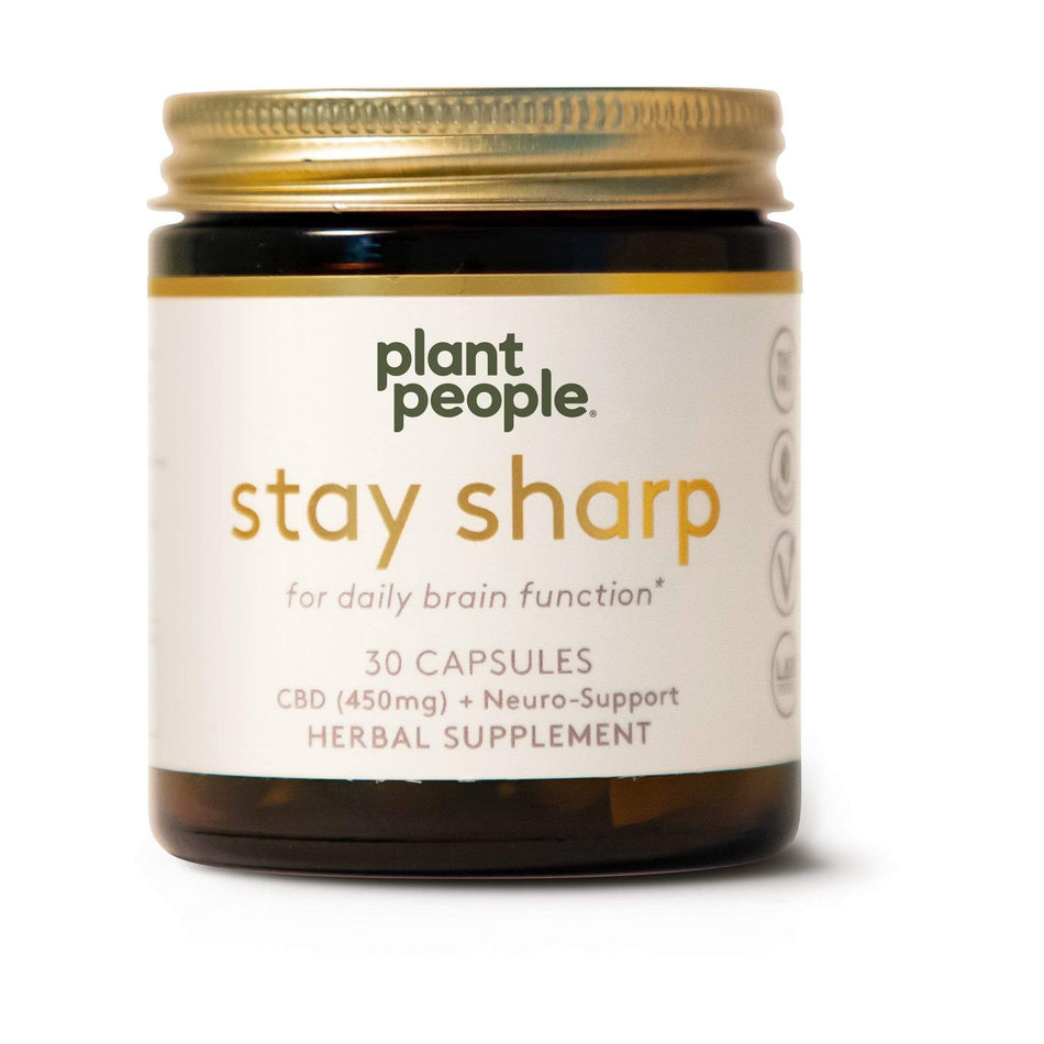 Plant People Stay Sharp CBD Capsules 450MG-30 Capsules-The Feed
