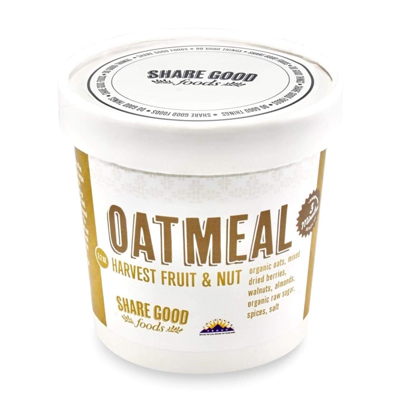 Share Good Foods Oatmeal Cups - Harvest Fruit and Nut Breakfast