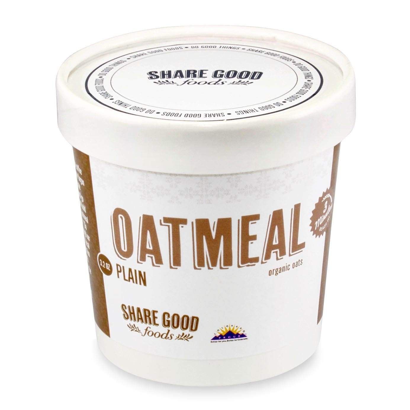 Share Good Foods Oatmeal Cups - Plain Breakfast