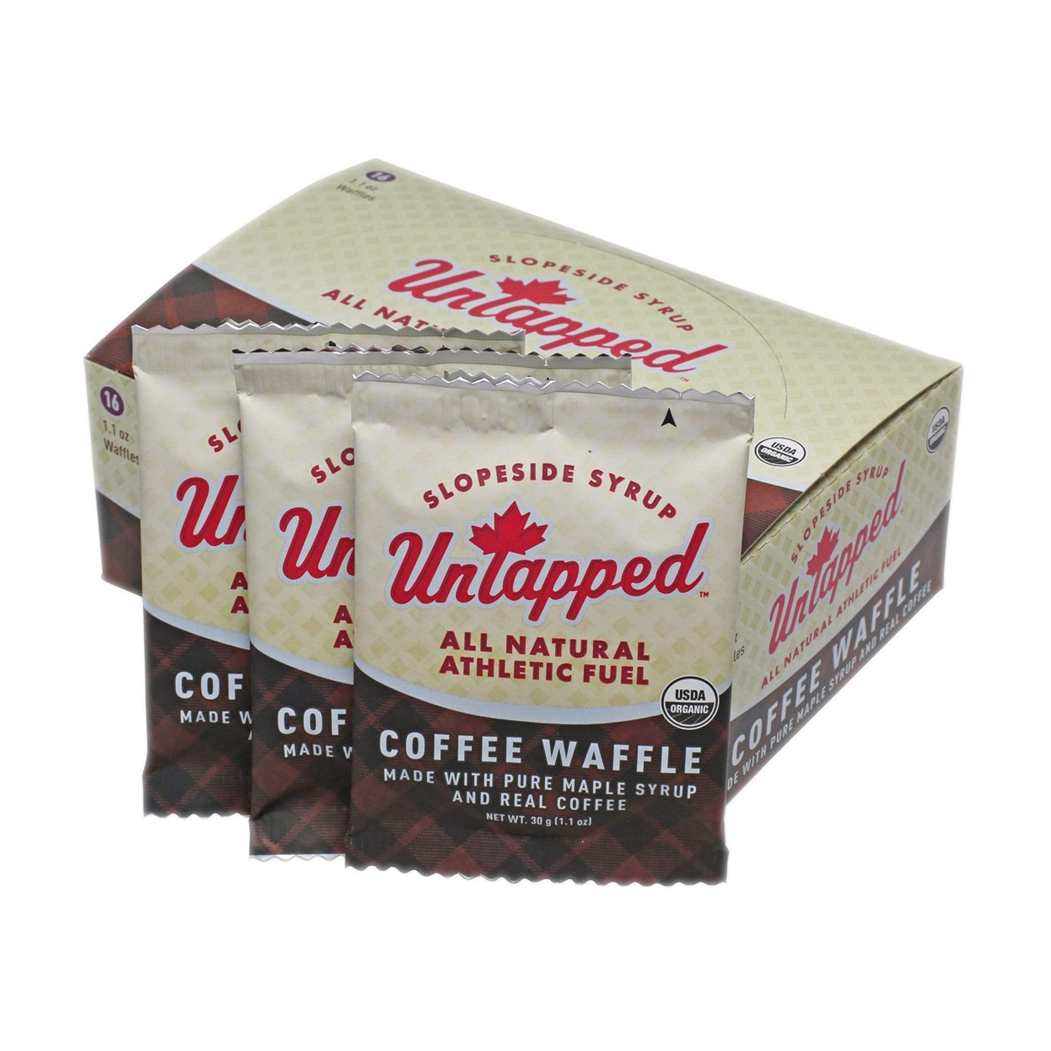 Untapped Waffle - Coffee (with coffee) Waffles 3 Boxes (48 Waffles)
