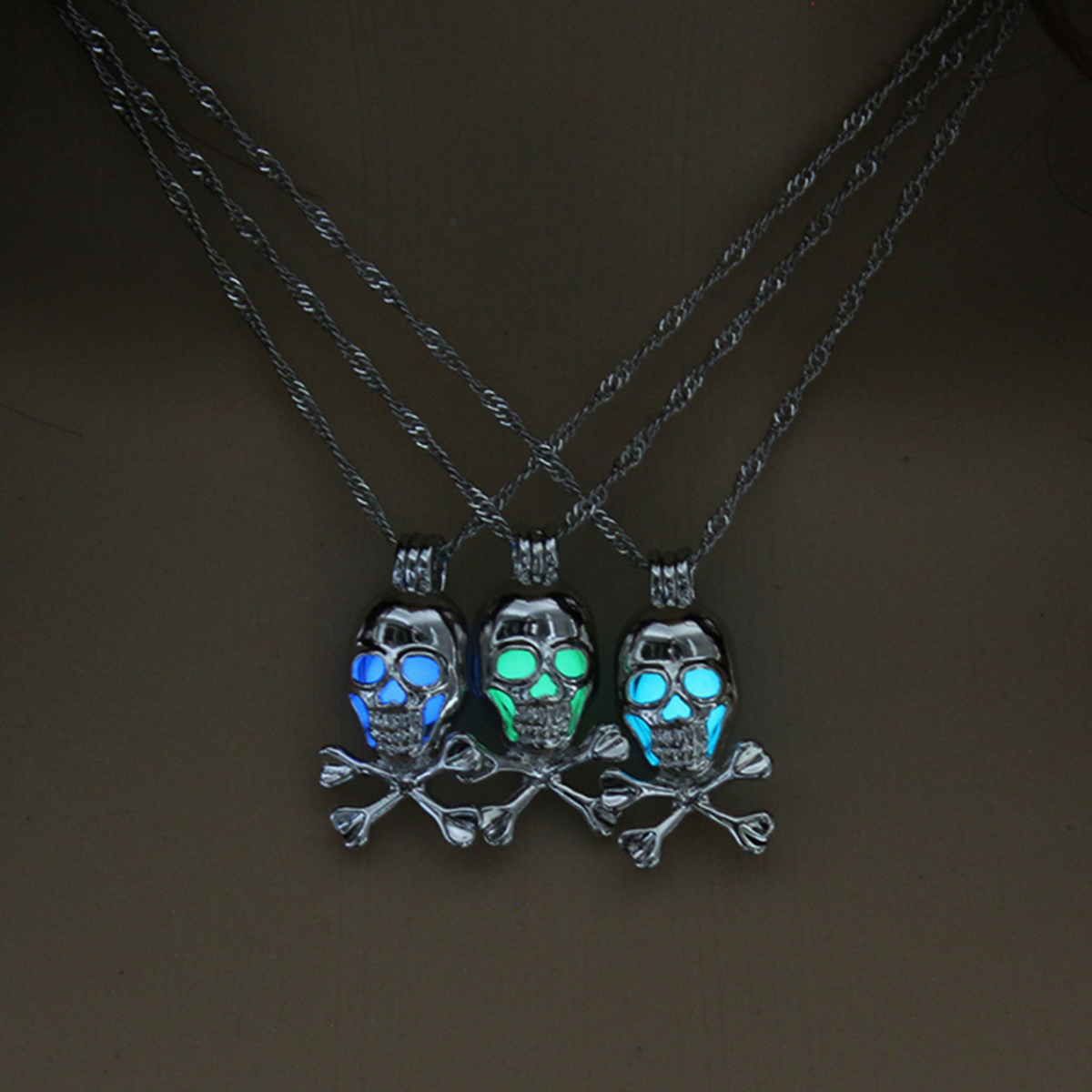 Glow in the Dark Skull Necklace
