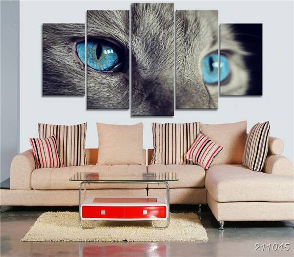 Cat Blue Eyed Canvas