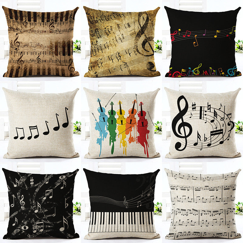Music Series Note Cushion Covers