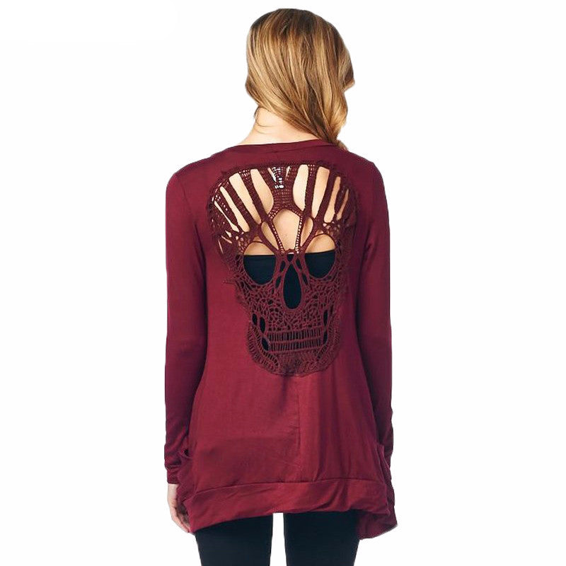 Skull Hollow Out Top