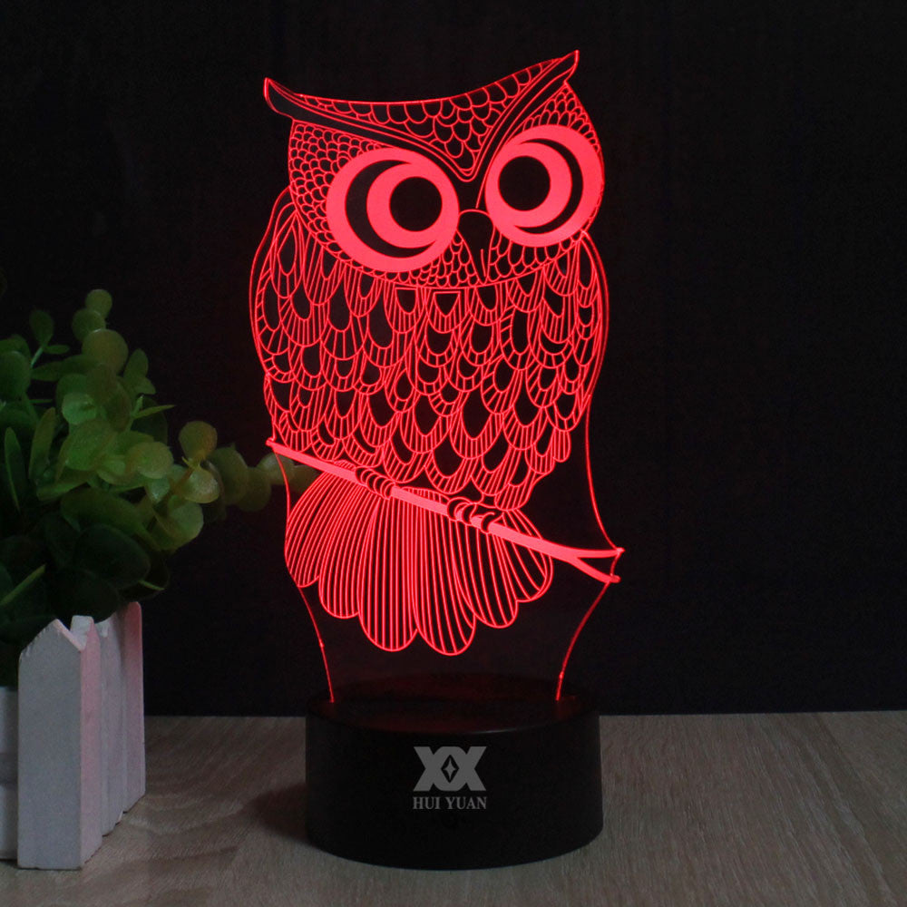 3D LED Owl Lamp