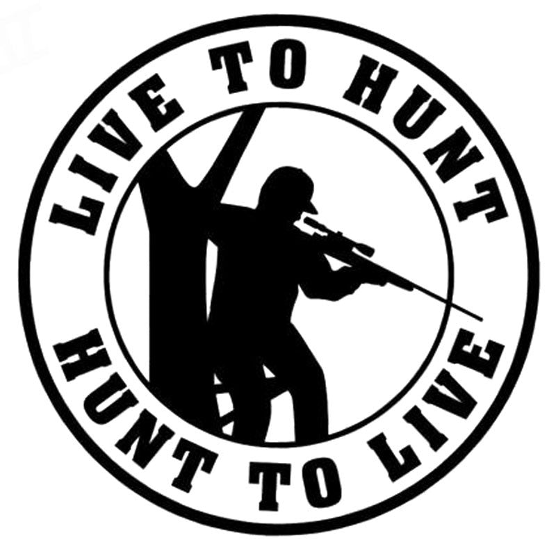 Live To Hunt Sticker Car Vinyl Decal