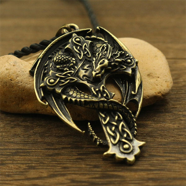 Guardian Dragon Cross Necklace