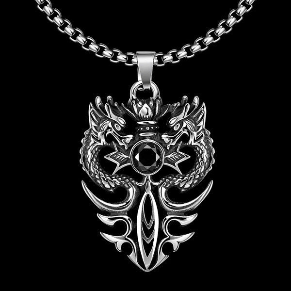 Double Dragon Necklace