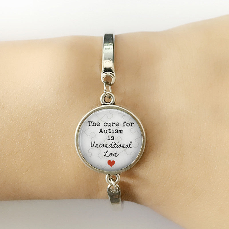 The Cure For Autism is Unconditional Love Bracelet