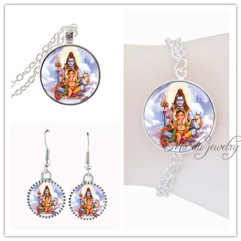 Hindu Indian God Jewelry Set