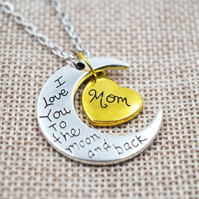 I Love You Moon Necklace