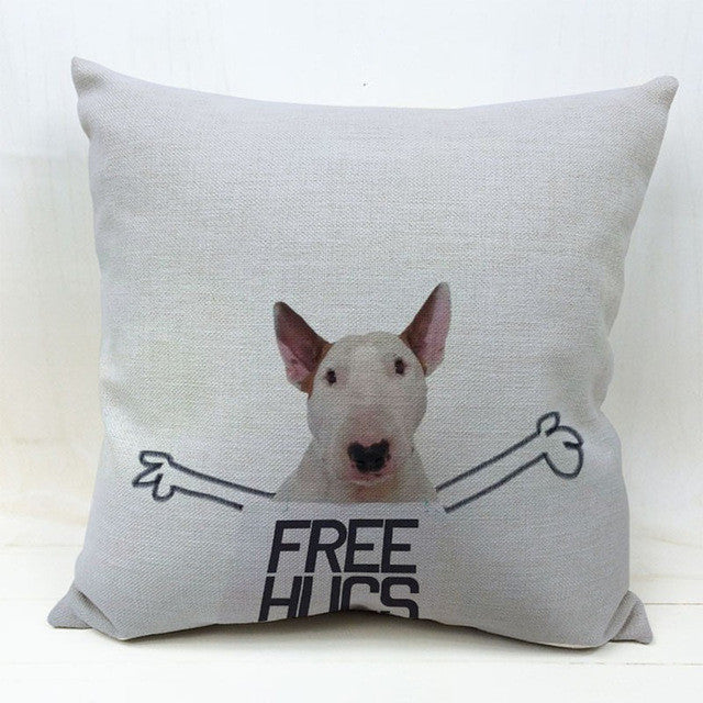 Bull Terrier Cushion Covers