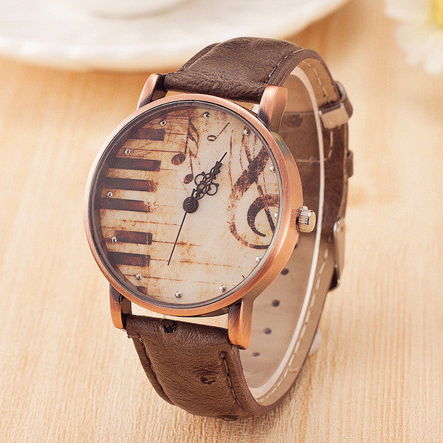 Leather Piano Watch