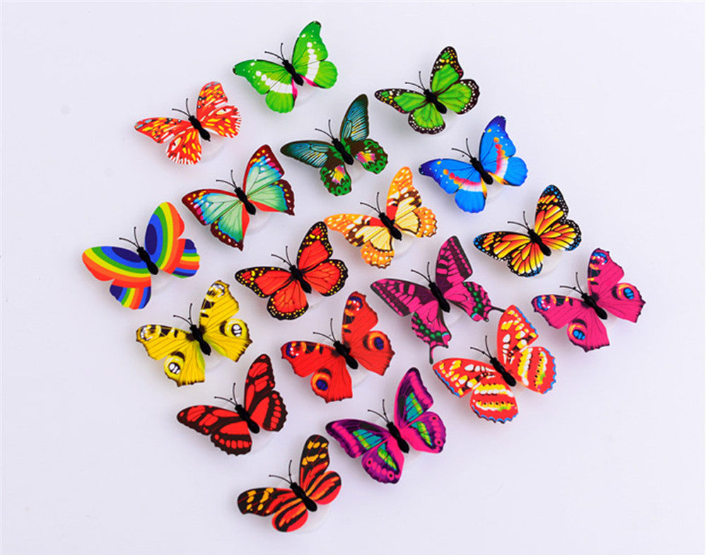LED 3D Butterfly Stickers (10 Pack)