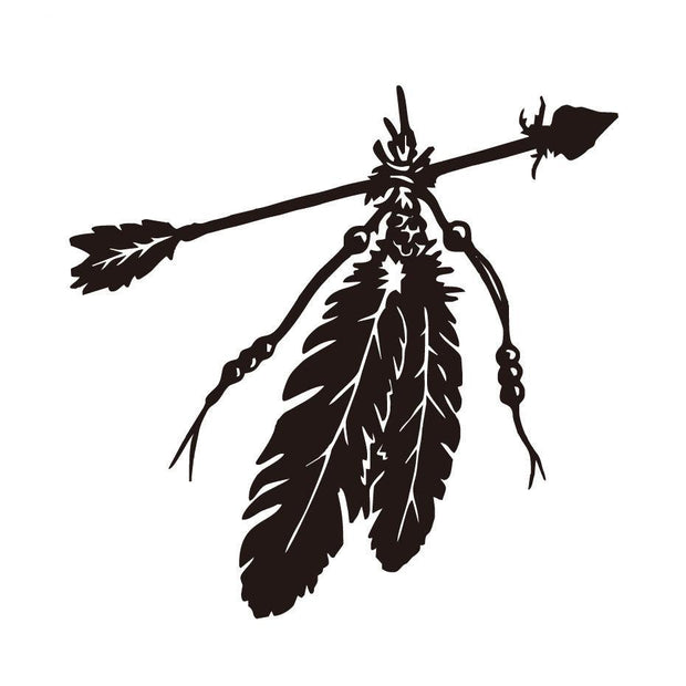 Arrow Feathers Car Sticker - Vinyl Decals