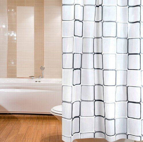 Modern Shower Curtain + Hooks