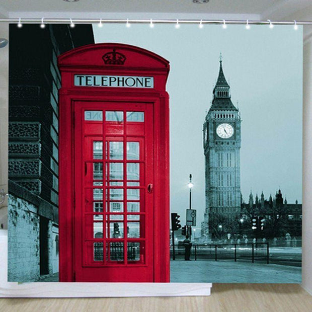 London Shower Curtain + Hooks