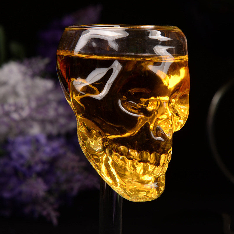 Skull Head Whisky Glass