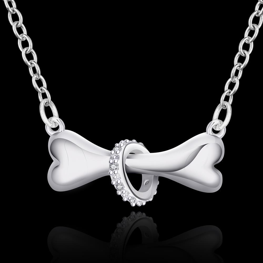 Silver Dog Bone Necklace