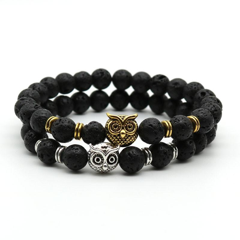 Gold Plated Owl Bracelet
