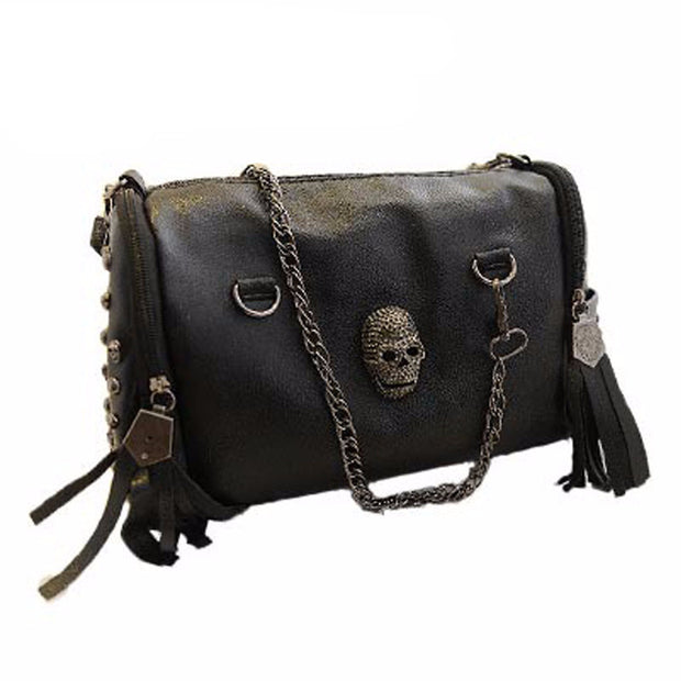 Leather Skull Shoulder Bag