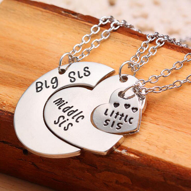 3pcs Sister Necklace